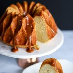 Kentucky Bourbon Butter Bundt Cake with Salted Caramel Glaze