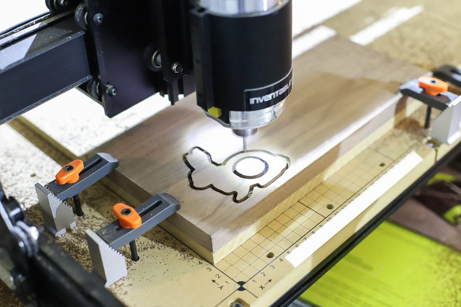Wood bunny napkin rings