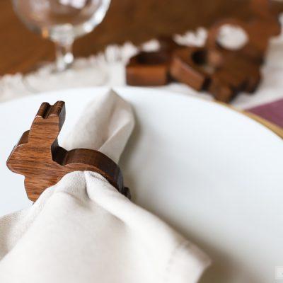 Wooden Bunny Napkin Rings