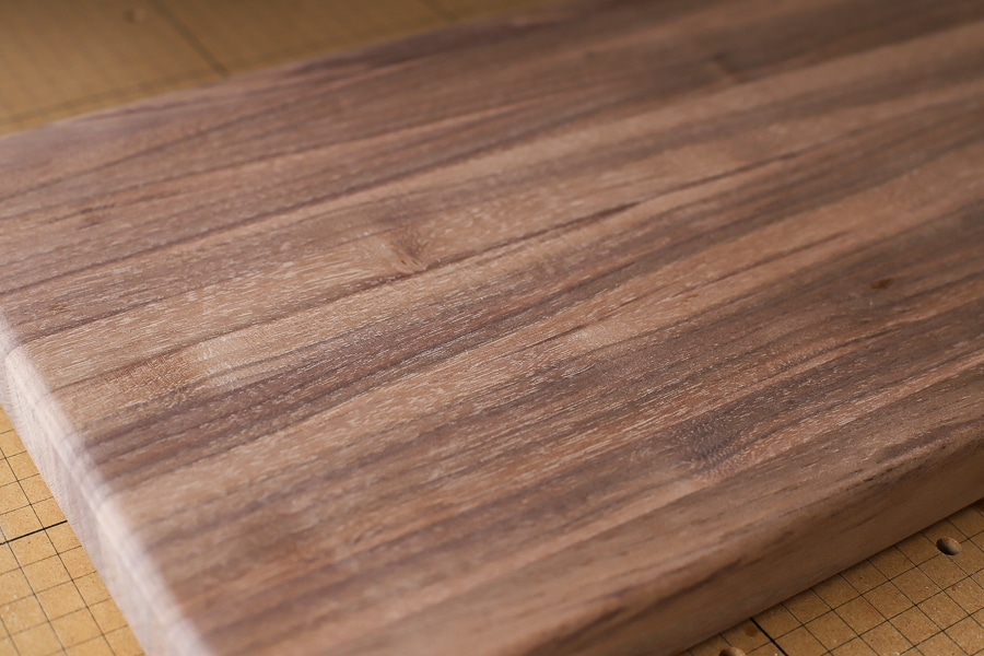 How to make a black walnut edge grain cutting board
