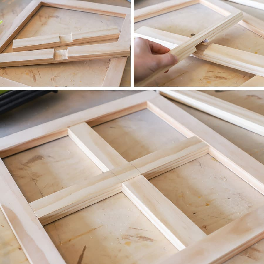 Loft bed window with overlap joint