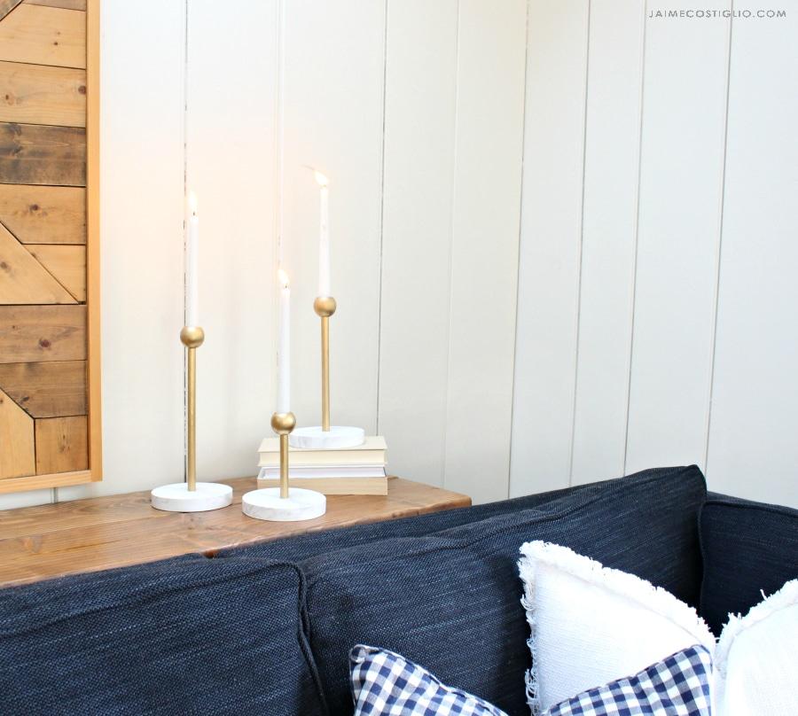diy modern candleholders