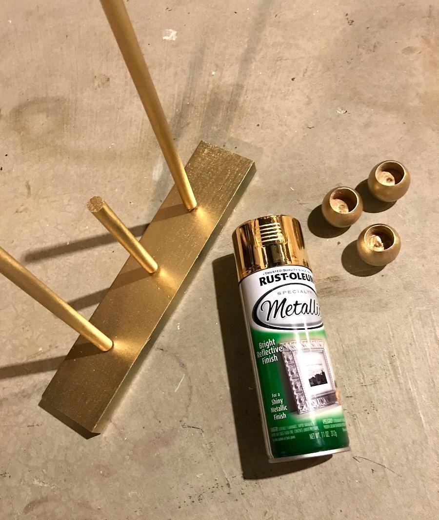 modern brass candleholders step 7