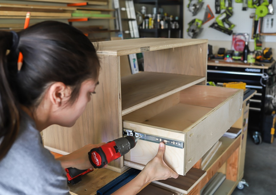 Jen Woodhouse shows you the easy way to install drawers