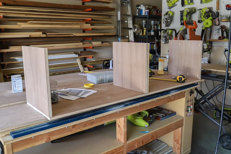 Building a DIY entertainment center out of walnut plywood