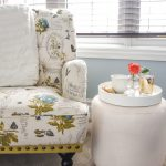 DIY Upholstered Ottoman / Footstool