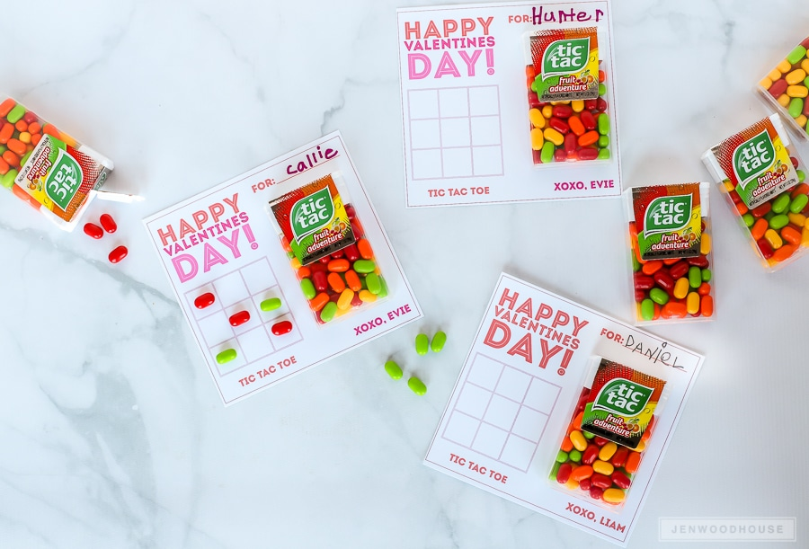 Kids Valentines Day Cards: Tic Tac Toe Valentines