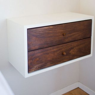 How to build a DIY Floating Nighstand - full tutorial on JenWoodhouse.com