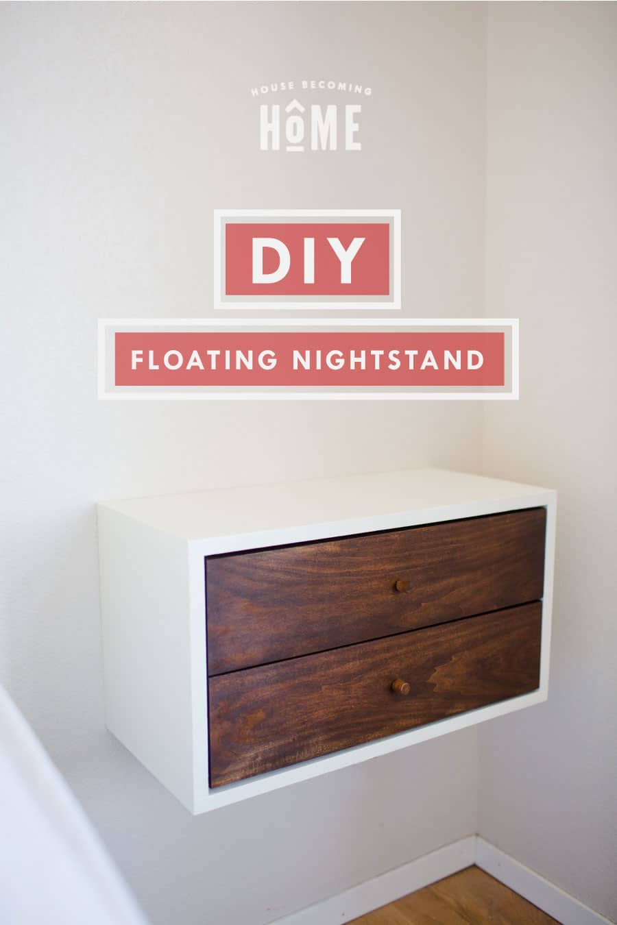 how to build a diy floating nightstand - full tutorial and instructions Floating Nightstand Ideas