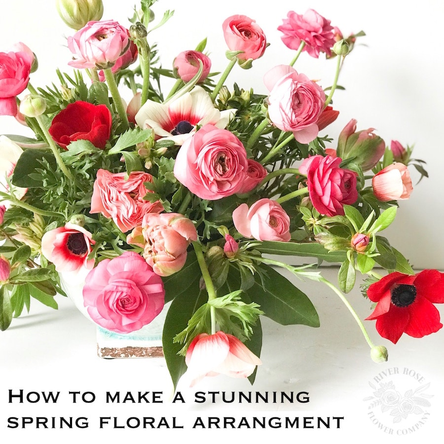 How To Make A Stunning Spring Floral Arrangement Tutorial