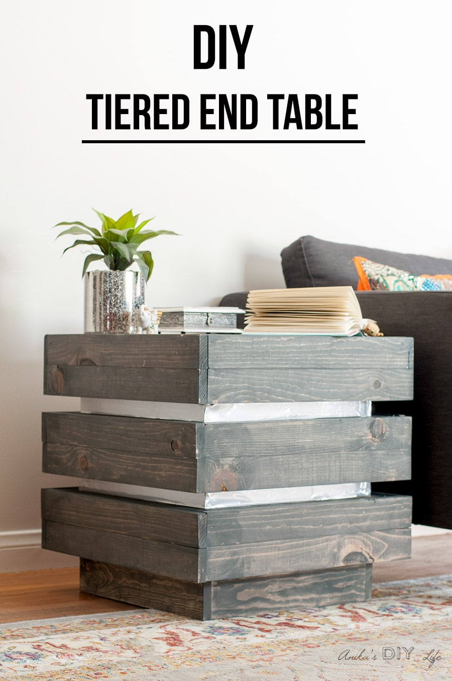 How to build a DIY chunky tiered end table
