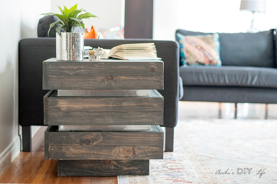 A DIY Tiered end table