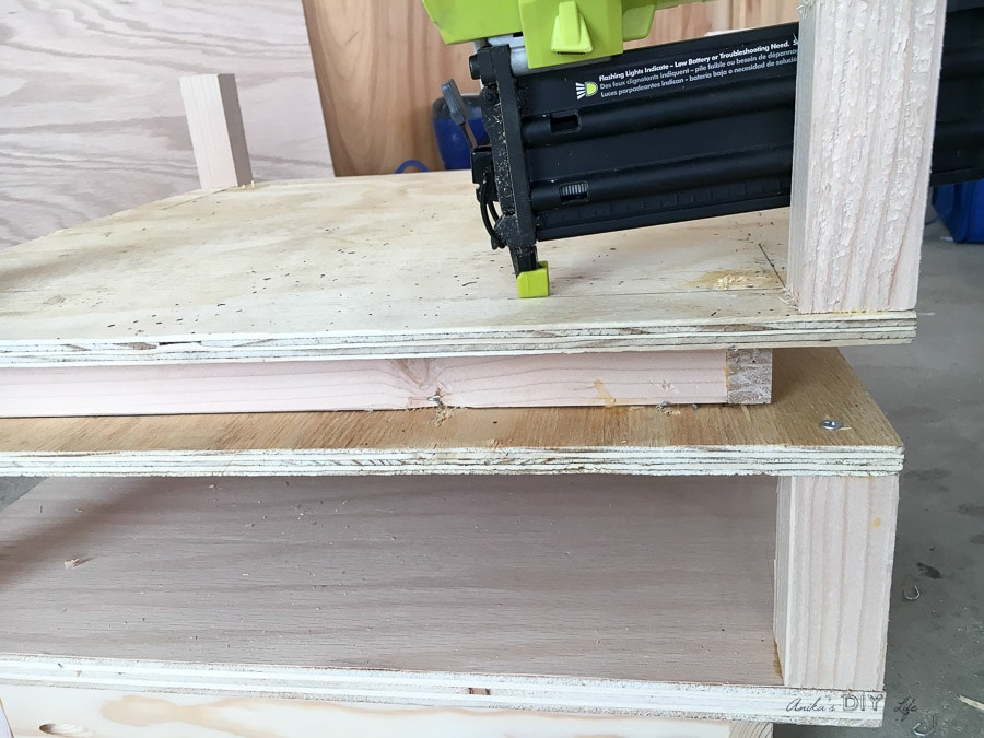 building each tier for the end table