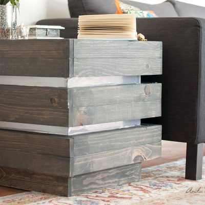 DIY Chunky End Table