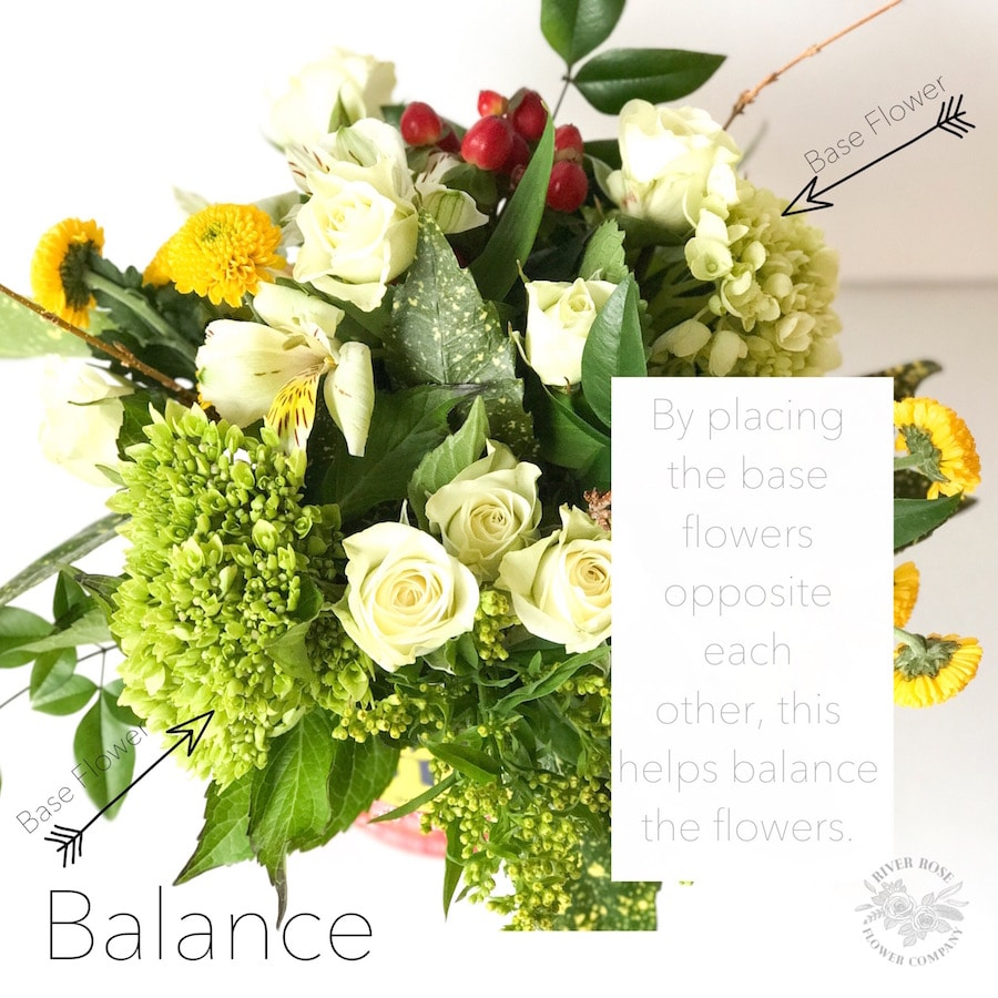 Balance is very important principle in flower arrangement.