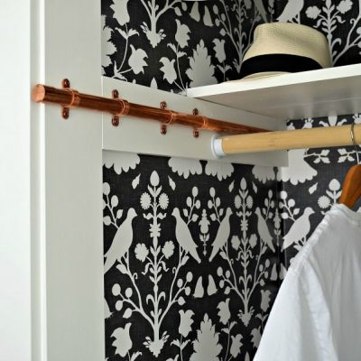 DIY Copper Sliding Clothing Rod