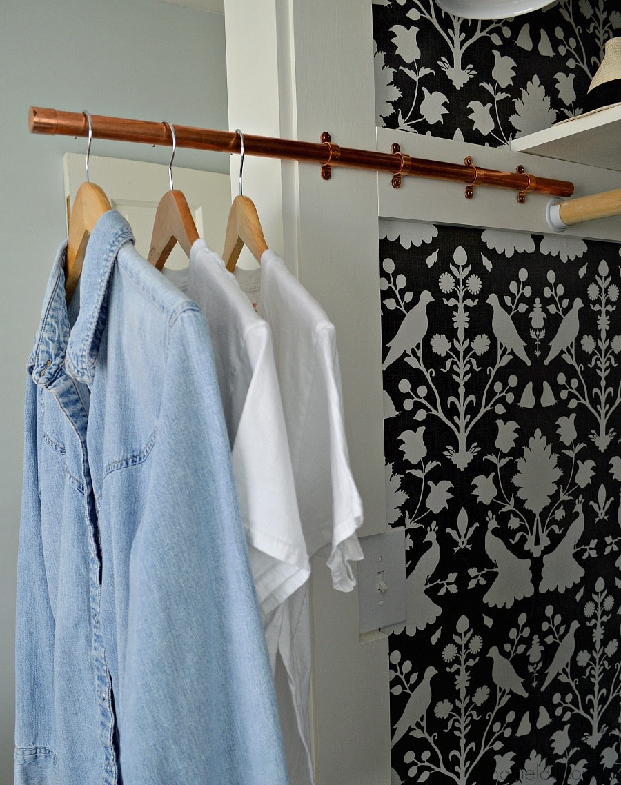 How to make a DIY copper sliding clothes rod