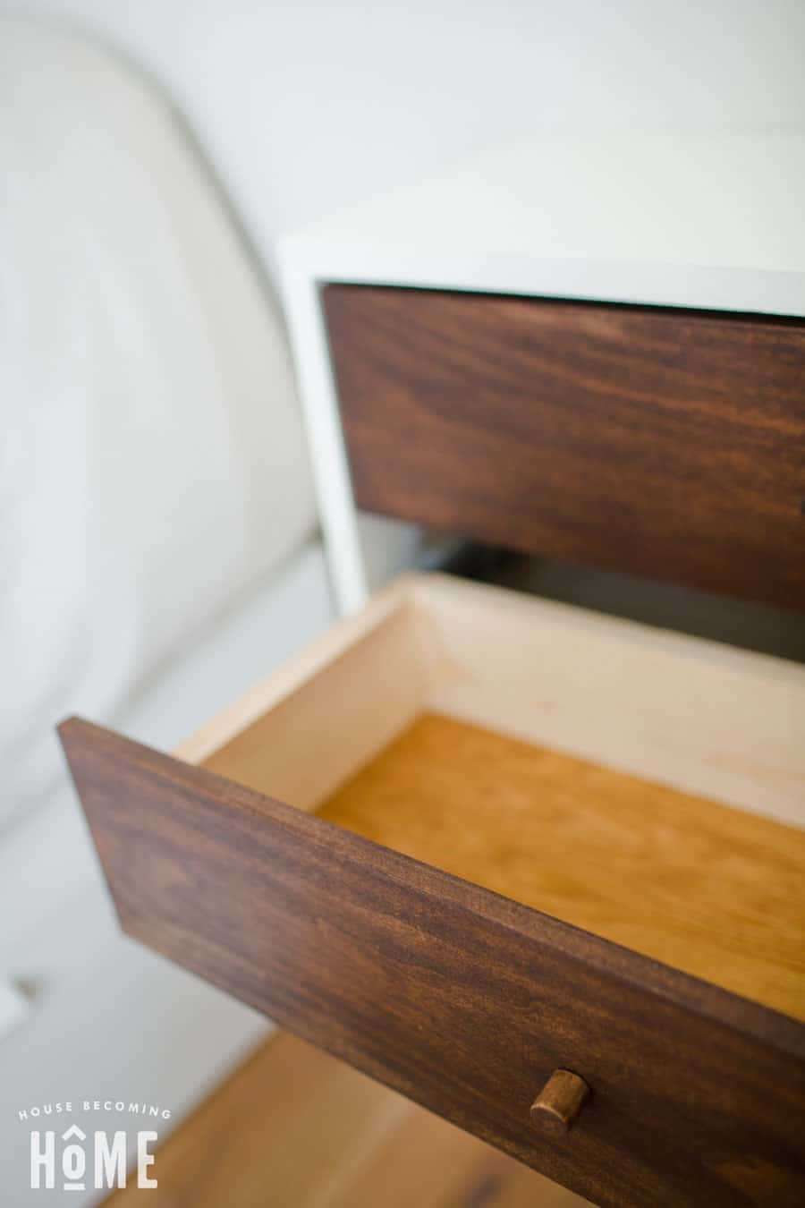 nightstand drawer open