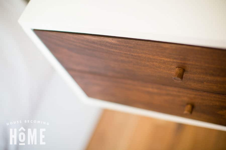 top view floating nightstand