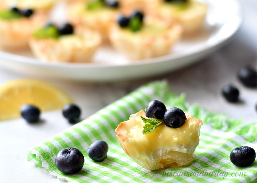 lemon cheesecake mini tarts