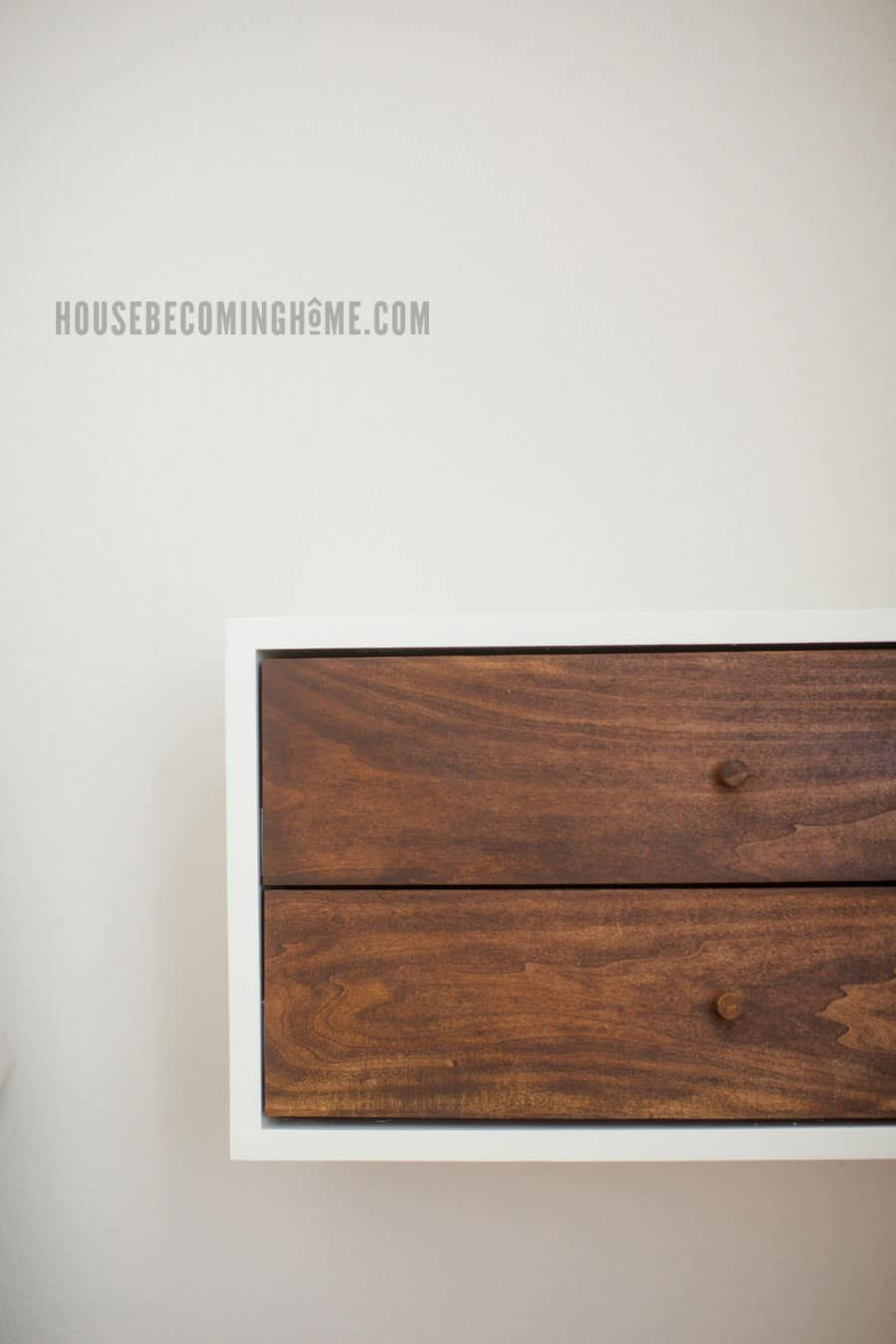 floating nightstand with two drawers