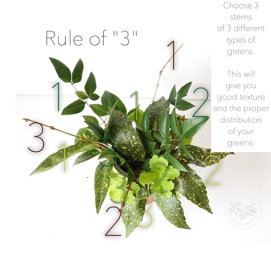 "Learn the ""rule of 3"" for floral design 101."