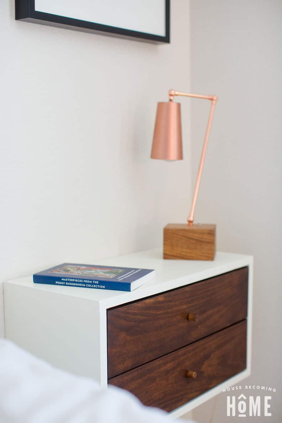 side view floating nightstand