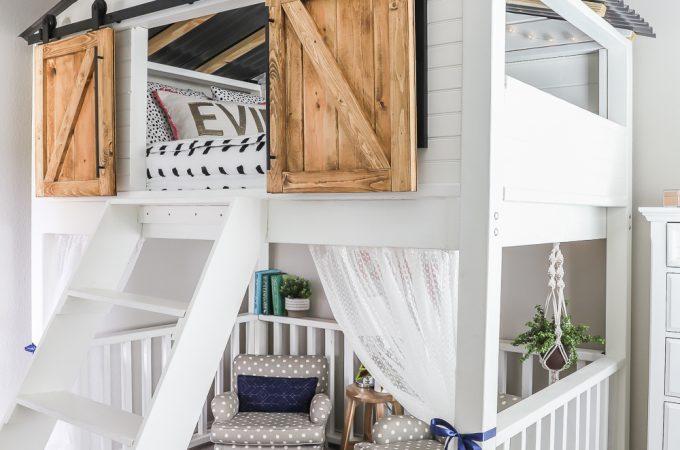 How to build a DIY sliding barn door loft bed