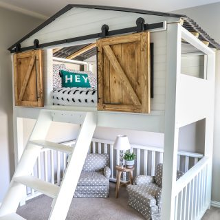 Sliding Barn Door Loft Bed