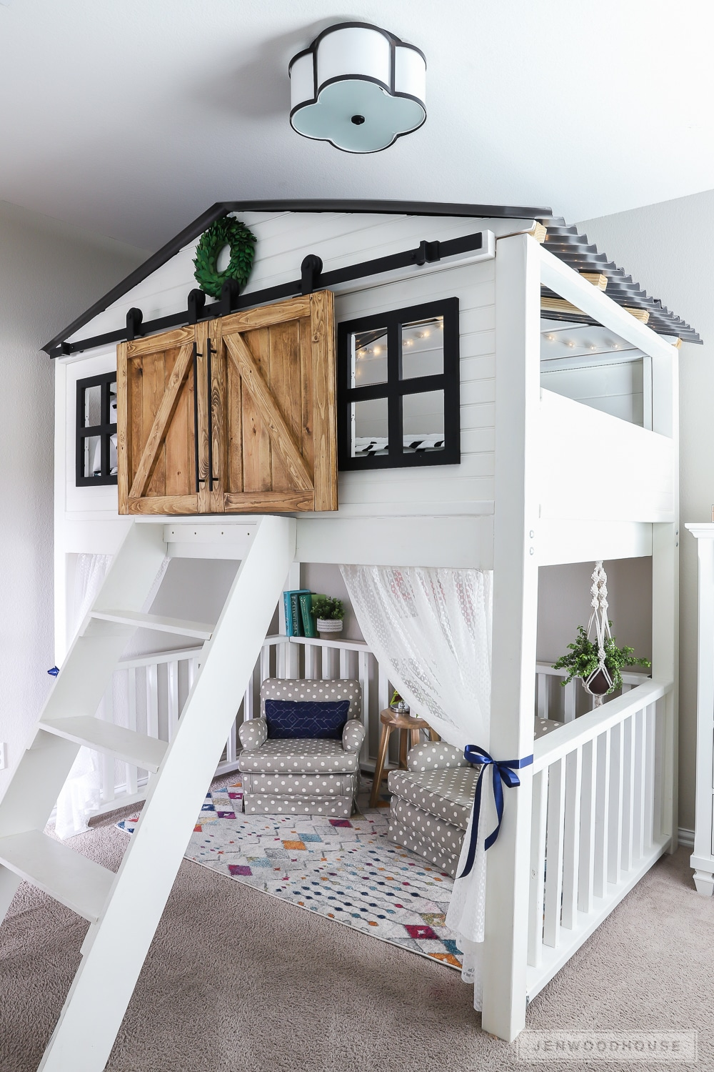 Adorable kids room with amazing loft bed!