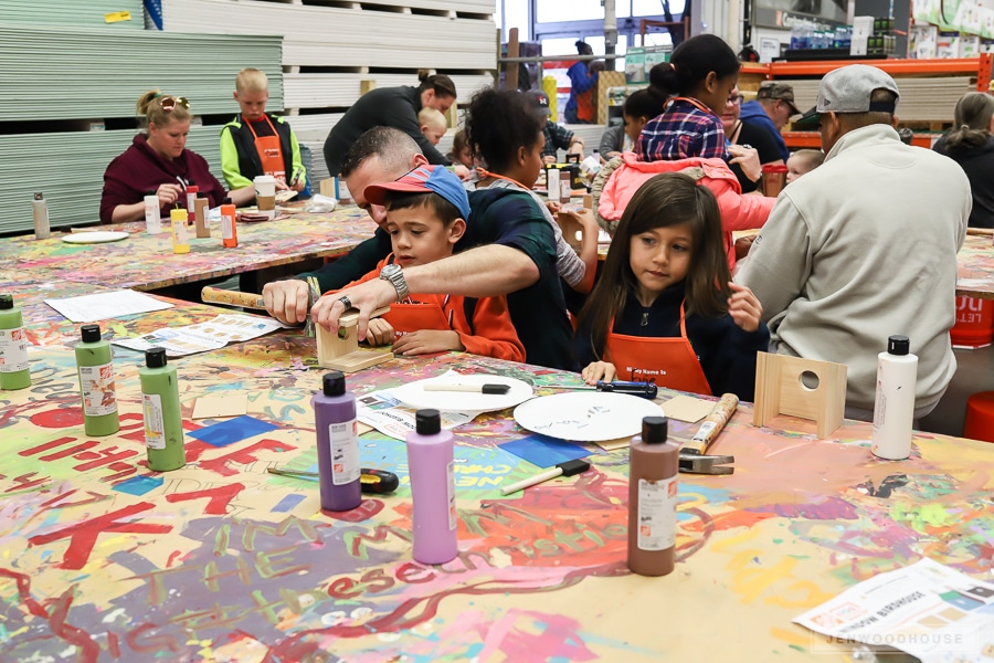 The Home Depot Kids Workshop - a fun and free Saturday activity for the family!