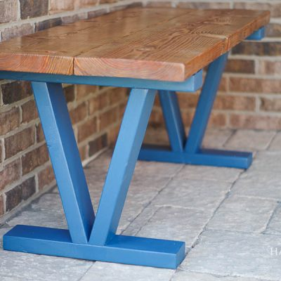 Easy and Inexpensive DIY Outdoor Bench