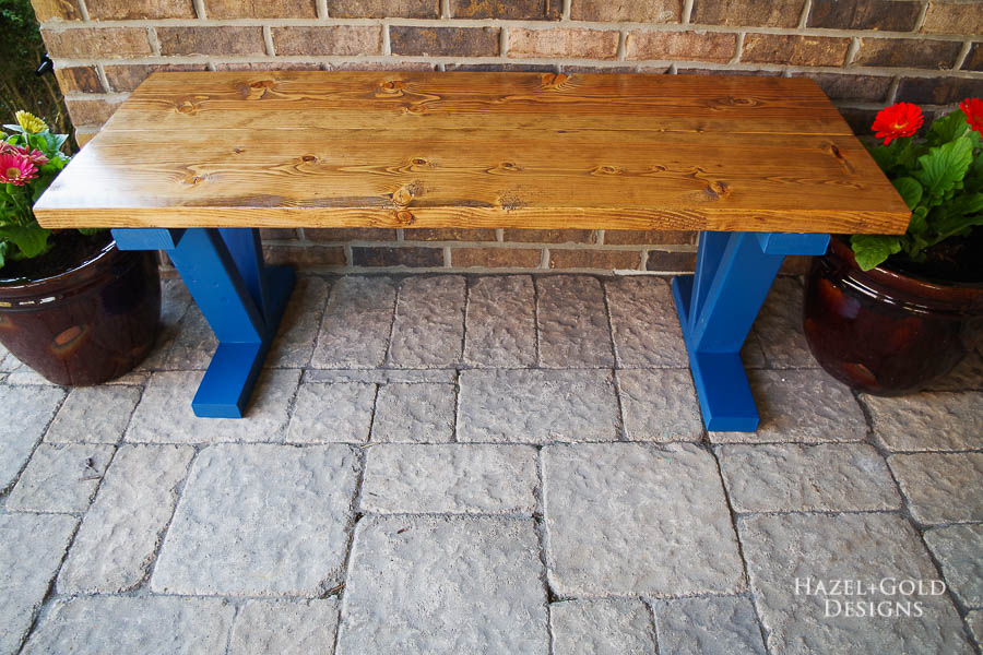 Easy DIY Outdoor Bench - horizontal1