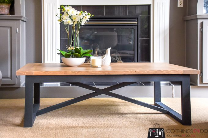 How to build a rustic industrial Restoration Hardware inspired coffee table