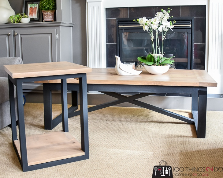 DIY Coffee table, Rustic Industrial coffee table, Restoration Hardware knock-off, easy coffee table, coffee table plans