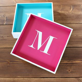 How to make a DIY Monogrammed Desktop Tray