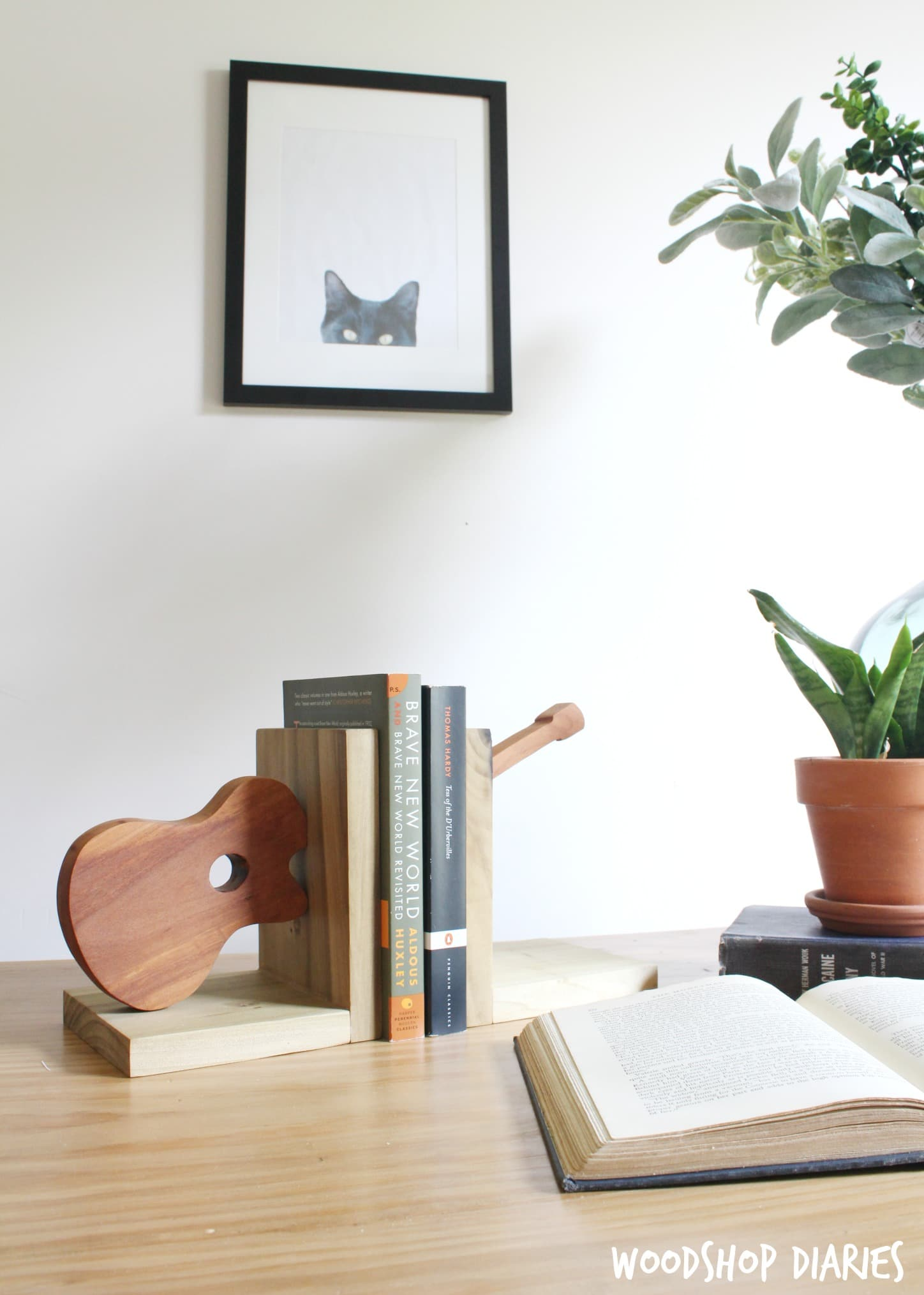 Make your Own DIY Bookends from Scraps and a Jig Saw