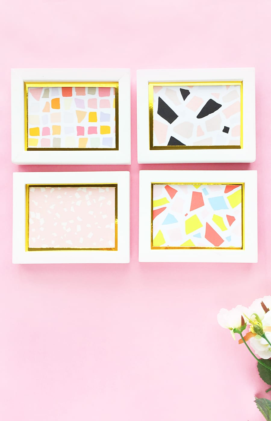 DIY Terrazzo Wall Art - You don't have to break the bank to add terrazzo to your home! Click through to make your own DIY Terrazzo Wall Art on The House of Wood