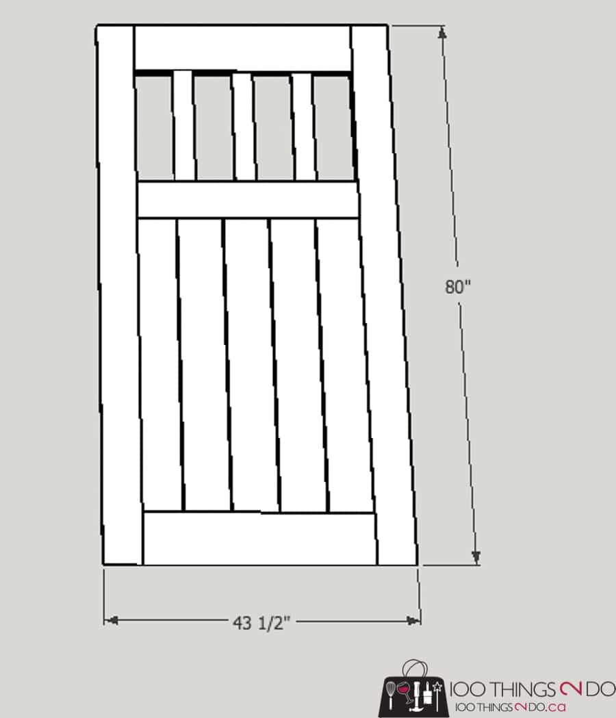 Garden gate, building plans for gate, fence gate, DIY gate, privacy gate