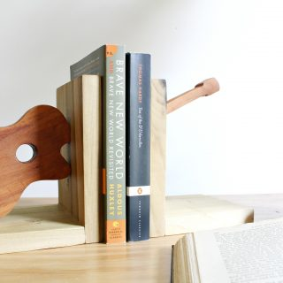 How to Make Simple DIY Guitar Shaped Bookends