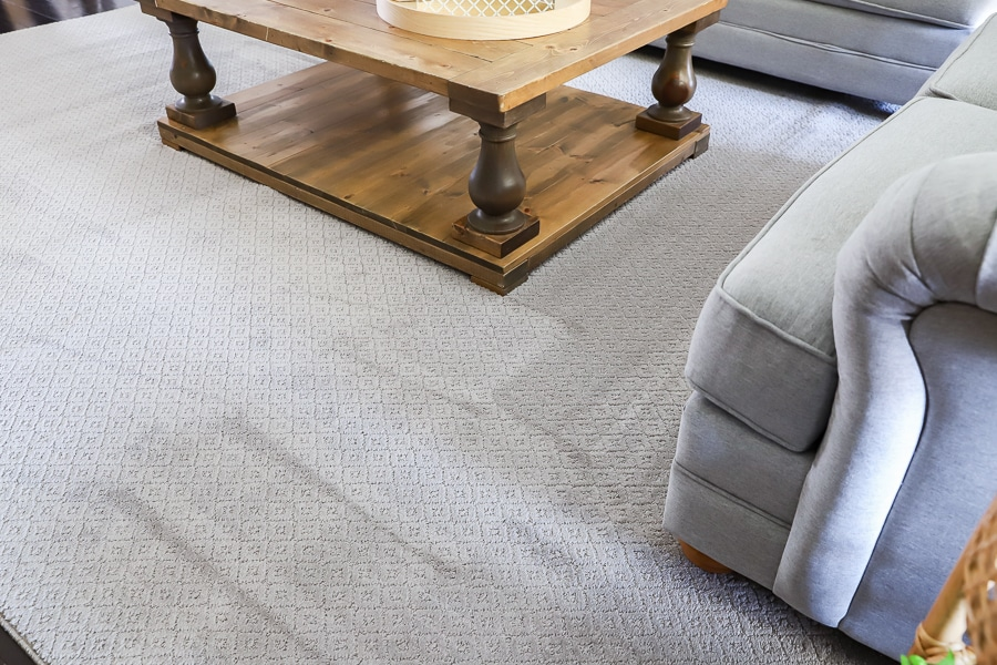 Pet-friendly pet proof carpet from The Home Depot is easy to clean, resists odors, and is super soft!