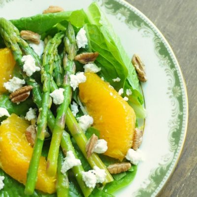 Spring Salad with Asparagus, Oranges, and Goat Cheese