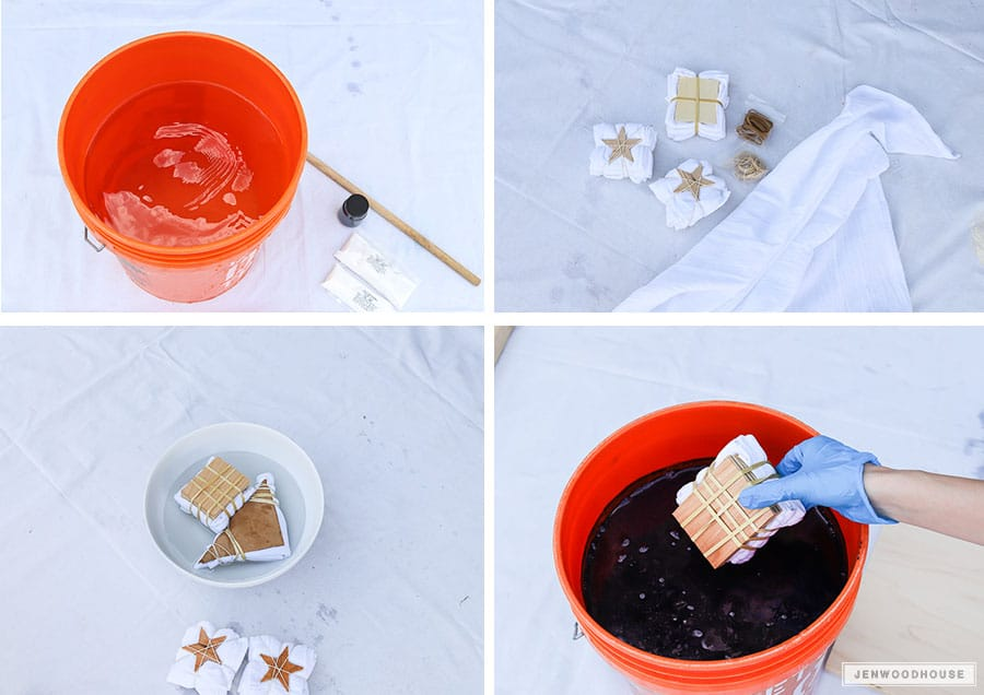 How to DIY shibori dye napkins