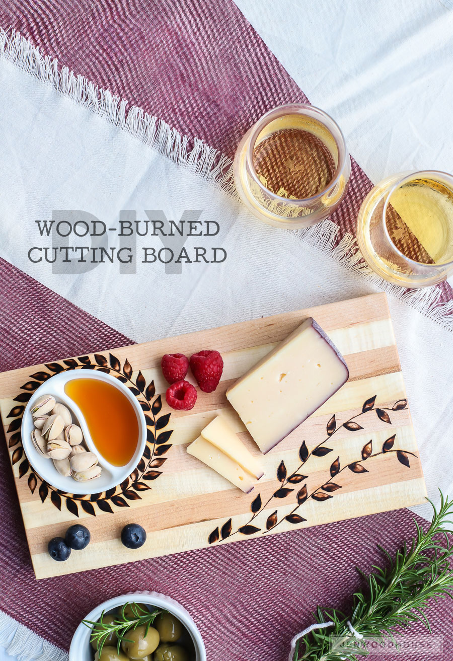 How to make a DIY wood-burned cutting board - what an amazing gift idea!