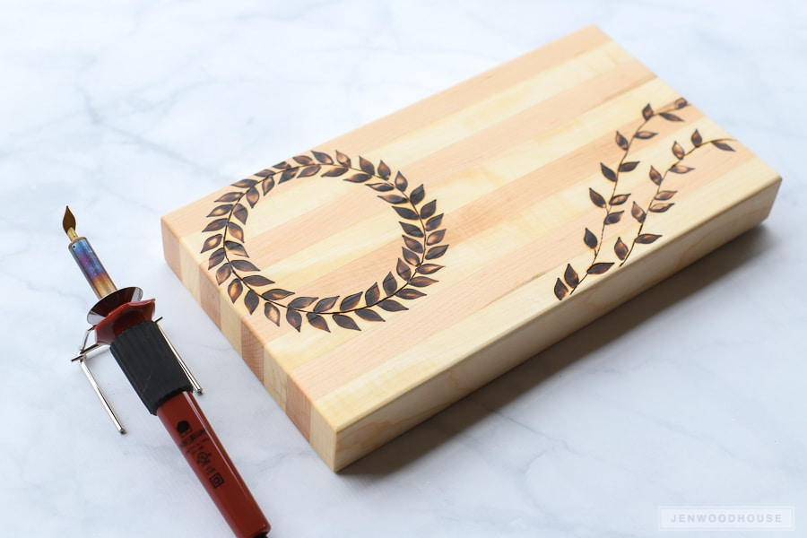 How to personalize a cutting board with a wood burning tool