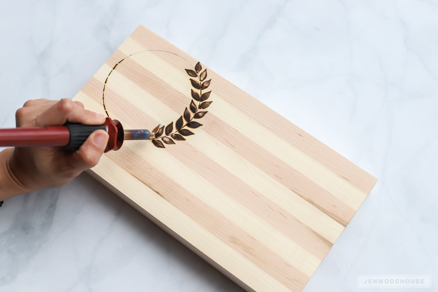 Wood burned cutting board tutorial