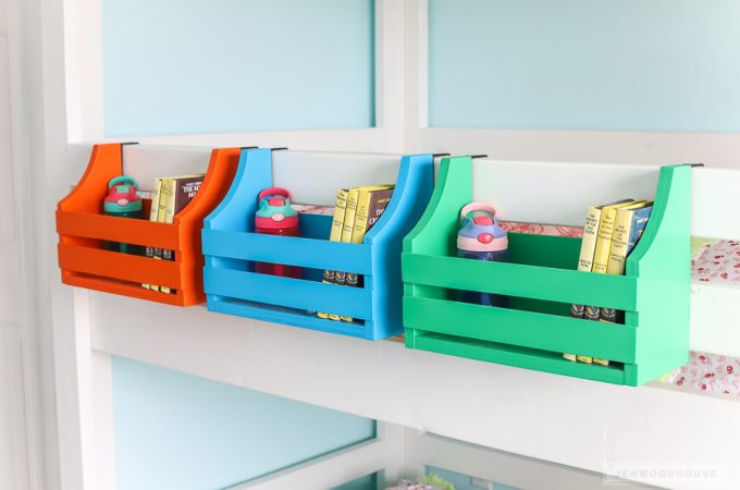 How to make a DIY bunk bed shelf out of scrap wood
