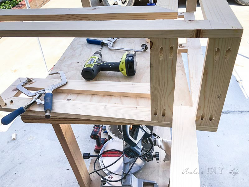 Attaching aprons on the Ballard inspired console table