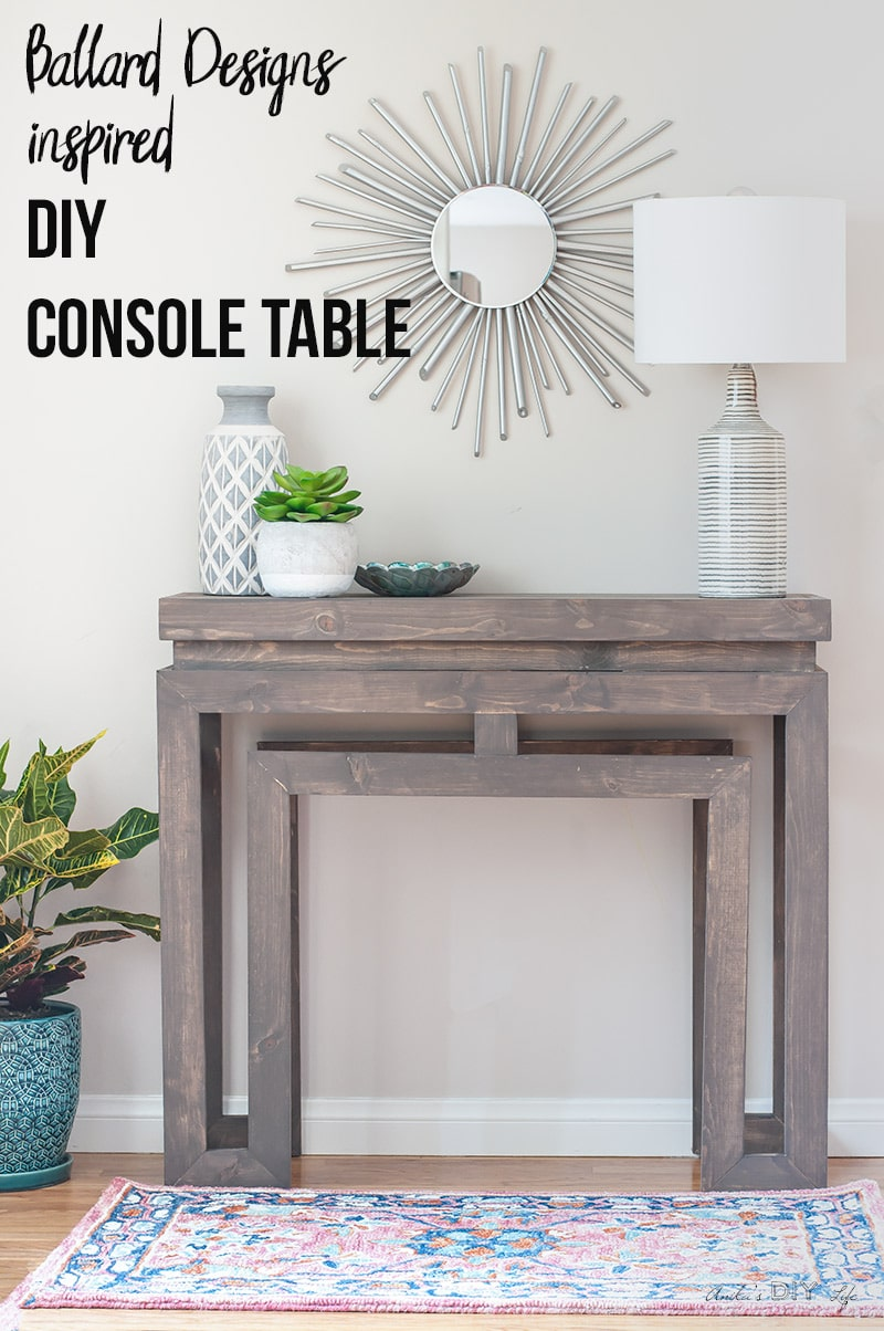 Ballard Designs inspired DIY console table