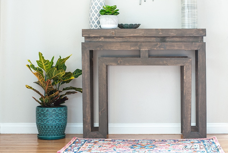 DIY Console table based on Ballard Designs